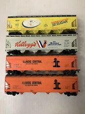 B63- Mixed HO Scale Lot Of Covered Hoppers As Is