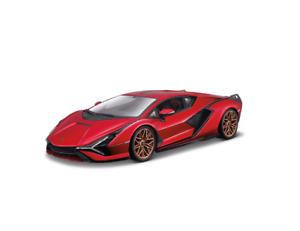 Bburago 1:18 Lamborghini Sian FKP 37 Hybrid Diecast MODEL Racing Car Red BOXED