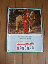 1969 ADVERTISING CALENDAR - Workingman's Store - Equestrian - Cowgirl