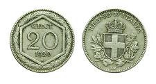pcc1564_1) Vittorio Emanuele III (1900-1943) - 20 Centesimi Esagono 1920 raro