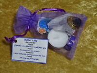 Mothers Day Mum SURVIVAL KIT Novelty Gift Idea Present Any Colour Organza Bag