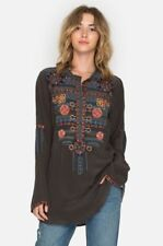 Johnny Was Nomeo Embroidered Silk Blouse Top B11417 New Boho Chic