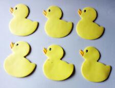 6 Yellow Rubber Ducky Bathtub Non-Slip Bath Treads Removable Free Shipping