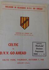 More details for celtic v d.v.v. go ahead programme e/c/w/cup prelim. rnd.sm  2nd leg  26/2/1964.