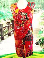 Womens Louis Feraud Dress Size 4 made in Germany Multi Vibrant Colors Silk