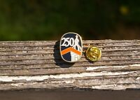 250 Years Gold Tone Metal & Black Orange White Enamel Lapel Pin Pinback