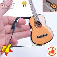 "1/6 Scale Original Wood Folk Guitar Model DIY Scenery Accessories for 12"" Figure"