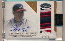 2016 Topps Dynasty * CHIPPER JONES * On Card Auto Game Worn Patch * #1/10