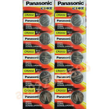 10*PANASONIC ECR2032 CR2032 3v Lithium Battery Coin Cell