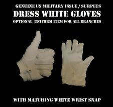 MEN's SIZE L WHITE GLOVES US ARMY MILITARY USMC DRESS BLUES UNIFORM FORMAL WWS