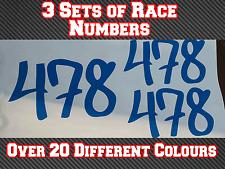 """3 conjuntos de 4"""" números de carrera de 100 mm Motocross Bicicleta de pista de pegatinas de vinilo la suciedad Kart N8"""