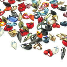 10 Assorted Mixed Colors & Sizes Swarovski Special Shapes Flatbacks Nail Art