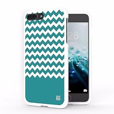 For iPhone 7 Plus Snap On Slim Design Cover Case Chevron Teal Pattern