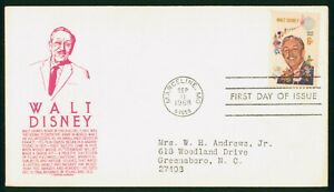 MayfairStamps US FDC Unsealed 1968 Walt Disney Anderson First Day Cover wwo99025