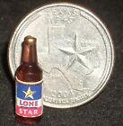 Texas Star Beer Bottle 1:12 Dollhouse Miniatures Alcohol Party Bar RWB