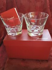 NIB FLAWLESS Exquisite BACCARAT Crystal BELUGA 2 TUMBLER DBL OLD FASHION GLASSES