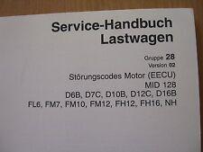Werkstatthandbuch Störungscodes Motor Volvo Truck FL6 FM7 FM10 FM12 FH12 FH16
