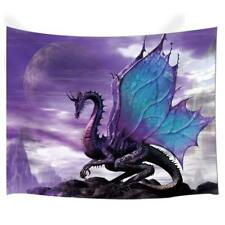 Evil Purple Dragon Tapestry Decoration Bedroom Room Dorm Wall Hanging Blanket
