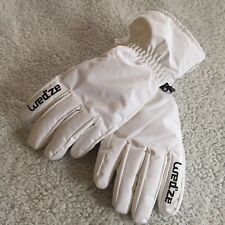 Wedze White Snow Winter Ski Gloves, Size XS  6 3/8 - 6 1/2 inches