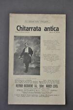 Spartiti Musica Canzone Napoletana Chitarra Antica Valente Pasquariello 1920