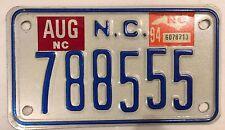 Rare North Carolina ERROR TRIPLE digit 5 license plate 555 repeating number 1994