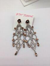 Betsey Johnson Jewelry BALLERINA ROSE CHANDELIER EARRINGS $65 #A133a