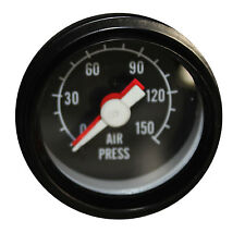 "2""  52mm Mechanical Dual Air Pressure Gauge 0-150 PSI Black Face"