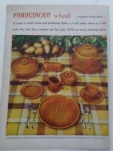 1953 Franciscan wheat pattern china harvest  brown dinnerware set vintage ad