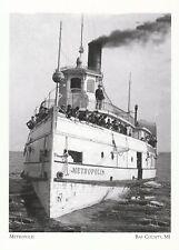 """+PC-Postcard-""""The Steamer Metropolis"""" @ *Bay County, MI. (A320)"""