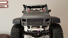 RC scale New Bright Jeep wrangler Rubicon body Angry bird eye grill mask scx10