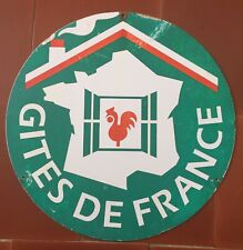 Ancienne Plaque en tôle GITES DE FRANCE Hotel COQ 35cm Années 60/70