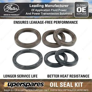 Gates Timing Belt Oil Seal Kit for Ford Capri SA SB SC SE Laser KE 1.6L