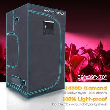"Mars 39""x39""x70"" Indoor Grow Tent Room Reflective Mylar Hydro NonToxic Home Box"