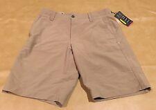 NWT Under Armour UA Golf Men Heat Gear Shorts New Beige Tan Size 30