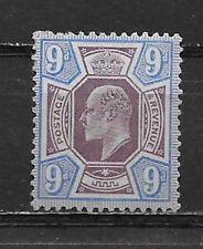 Great Britian 1902/11 , Edward Vii , No.136 . 9p Stamp , Perf, Vlh , Cv$92.50