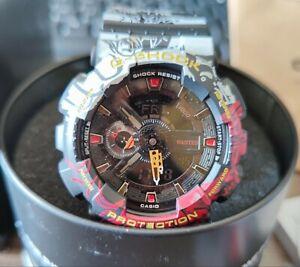 G-SHOCK×ONE PIECE Men's Watch Analog Digital GA110JOP-1A4 Luxury Watches