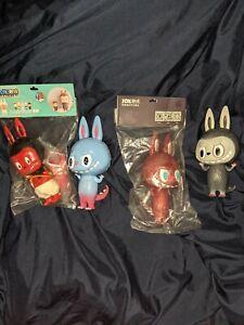 POP MART x HOW2WORK 4 Figures New The Little Monsters Labubu Zimomo Kasing Lung