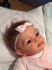 Rosa, Lovely Reborned Preemie Baby Girl Sculpt Karola Wegerich W/COA Glass Eyes
