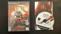 Rune: Viking Warlord (Sony PlayStation 2, 2001) Complete Tested CIB