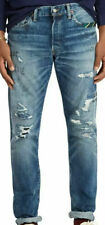 NWT    Polo Ralph Lauren   Distressed Blue Jeans  Size 34