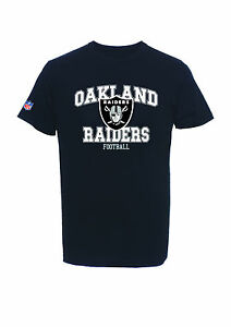 NFL T-Shirt Oakland Raiders Football Treser Shirt Black By Majestic