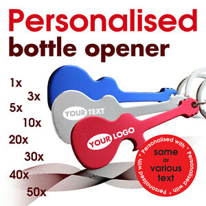 Personalised Bottle opener *GUITAR* engraved with text, name * wedding gift
