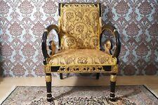 6 fauteuils bois massif style baroque Louis XV doré à feuille d'or d'un château