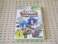 Sonic Generations für XBOX 360 XBOX360 *OVP* C