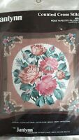 Rose Tapestry Pillow Top counted cross stitch kit, Janlynn, sealed