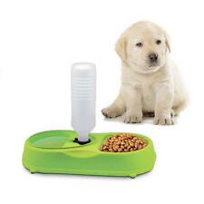 Dispenser cibo acqua per Cani Gatti Doppia ciotola mangiatoia