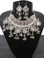 Statement Choker Bib Necklace Handmade Fashion Jewelry Boho Gypsy Vintage Style