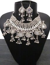 Statement Bib Choker Necklace Fashion Jewelry Bohemian Gypsy Mirror Metal Tassel