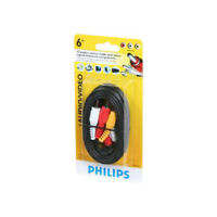 PHILIPS 6 Ft 3-RCA Stereo Audio & Composite Video A/V Cable For TV VCR