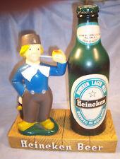 1960 Heineken Beer Advertising Bar Sign Holland Dutch Boy Statue Bar Top Display